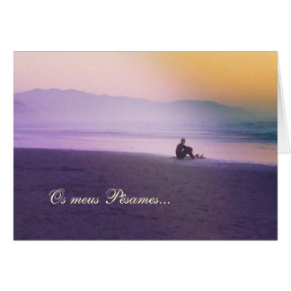 Portuguese: Sympathy card: Surfer Card
