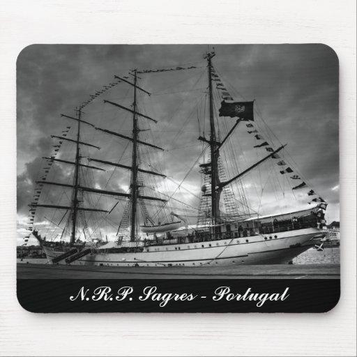 Portuguese tall ship mousepad