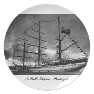 Portuguese tall ship NRP Sagres Dinner Plate