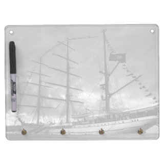 Portuguese tall ship NRP Sagres Dry Erase Board With Keychain Holder