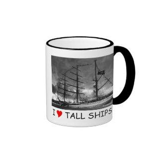 Portuguese tall ship NRP Sagres Ringer Mug