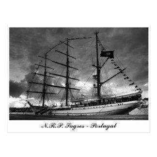 Portuguese tall ship postcard