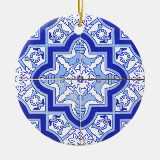 Portuguese Tile Blue and White Ceramic Ornament