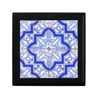 Portuguese Tile Blue and White Jewelry Box