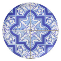 Portuguese Tile Blue and White Plate