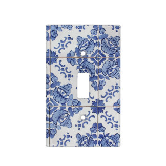 Portuguese Tile Light Switch Plate