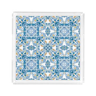 Portuguese Tile Pattern Square Serving Trays