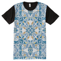 Portuguese Tile Pattern All-Over-Print Shirt