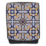 Portuguese tile pattern backpack
