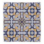 Portuguese tile pattern bandana