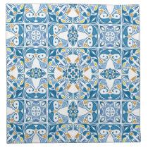 Portuguese Tile Pattern Cloth Napkin