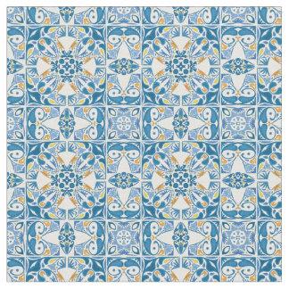Portuguese Tile Pattern Fabric