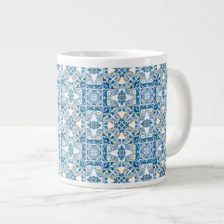 Portuguese Tile Pattern Giant Coffee Mug