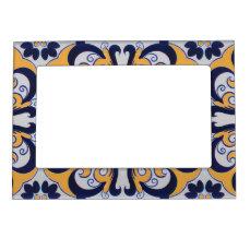 Portuguese tile pattern magnetic picture frame