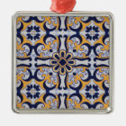 Portuguese tile pattern metal ornament