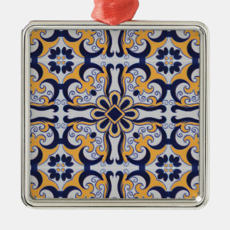 Portuguese tile pattern metal ornament