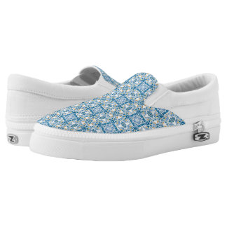 Portuguese Tile Pattern Printed Shoes