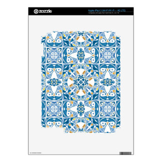 Portuguese Tile Pattern Skins For iPad 3
