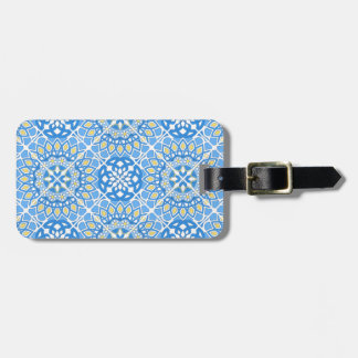 Portuguese tile patterns luggage tag