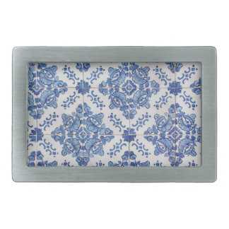 Portuguese Tile Rect Belt Buckle