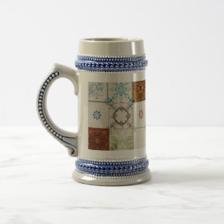 Portuguese tiles beer stein