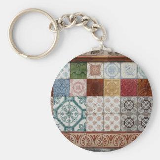 Portuguese tiles keychain