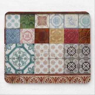 Portuguese tiles mouse pad
