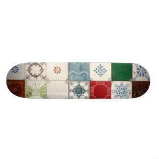 Portuguese tiles skateboard deck