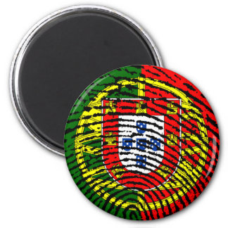 Portuguese touch fingerprint flag 2 inch round magnet