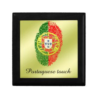 Portuguese touch fingerprint flag gift box
