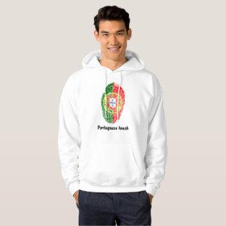 Portuguese touch fingerprint flag hoodie