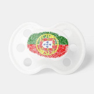 Portuguese touch fingerprint flag pacifier