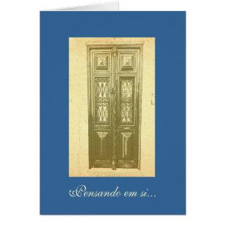 Portuguese: traditional door 2 card