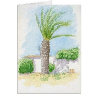 Portuguese tree and villa card