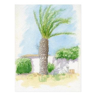 Portuguese tree and villa postcard