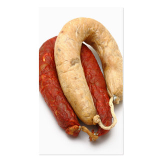 Portuguese typical sausages business card