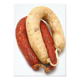 Portuguese typical sausages card