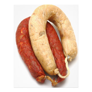 Portuguese typical sausages flyer