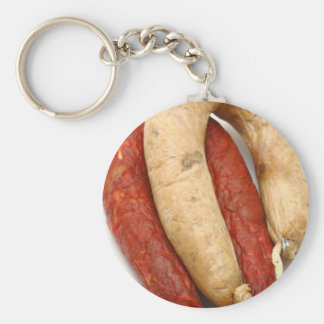 Portuguese typical sausages keychain
