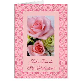 Portuguese: Valentine's Day - Dia de Sao Valentin Card