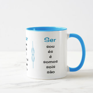 Portuguese verbs teacher or student mug