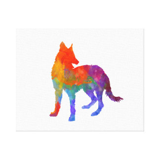 Portuguese Warren Hound in watercolor Canvas Print