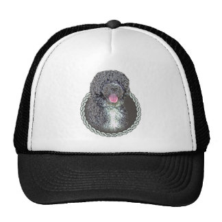 Portuguese water dog 001 hats
