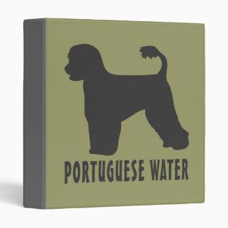 Portuguese Water Dog 3 Ring Binder