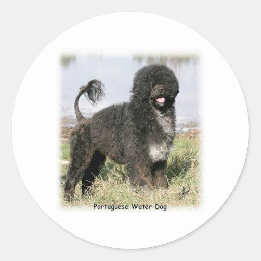 Portuguese Water Dog 9Y154D-030 Round Sticker