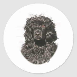 Portuguese Water Dog 9Y522D-037 Classic Round Sticker