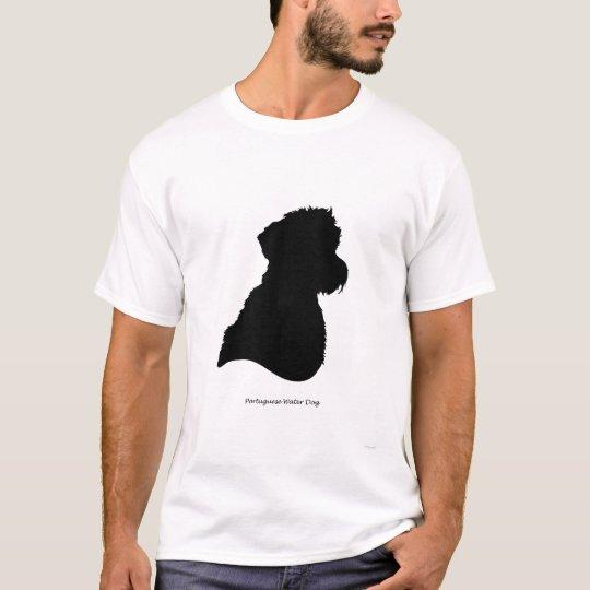 Portuguese Water Dog - black Silhouette T-Shirt