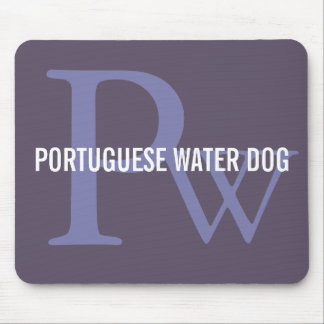 Portuguese Water Dog Breed Monogram Mouse Pad