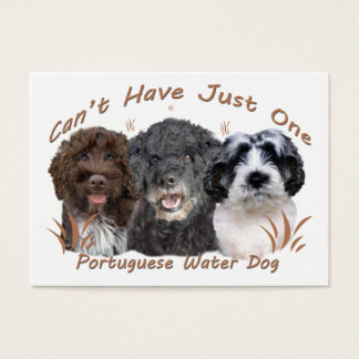 Portuguese Water Dog Can't Have Just One Business Card