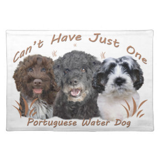 Portuguese Water Dog Can't Have Just One Placemat